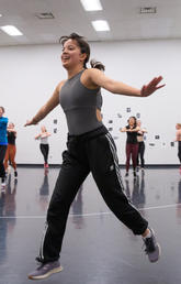 Sarah Kenny teaches UCalgary dance students the importance of strength training and body conditioning.