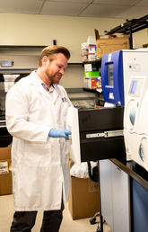 Research Associate Dr. Tom Rydzak optimizes new diagnostic tests for use on real-world clinical tools.