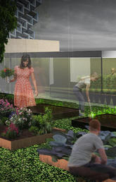 Garden render, Rochelle Greenberg (MArch'20)