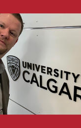 Michael Van Hee on the UCalgary campus