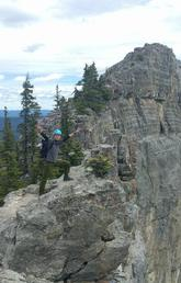 Kenryo Mizutani hikes the Yamnuska trail in Alberta