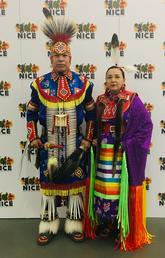 ndigenous artist and Class of 2020 graduate Lori Scalplock and her husband, Alex Scalplock Jr.