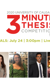Tune in to Three Minute Thesis competition finals July 24 — from the comfort of your home