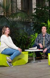 L to R: Miranda Harbourne, Dr. Adam Murry and Elena Buliga