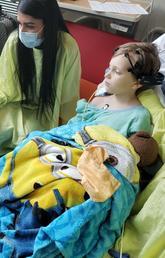 Daniel Audley at Alberta Children's Hospital