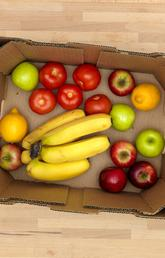Fruit and vegetables in a box