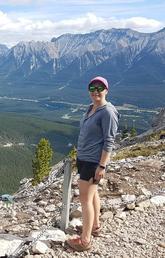 Megan Horachek in the Rocky Mountains