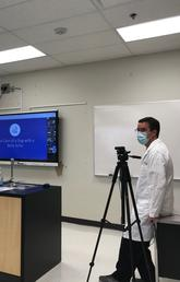 UCVM faculty created a virtual presentation to walk Stoney Nakoda youth at Morley School through the process of diagnosing a sick dog.