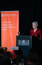 the 2019 PETRONAS International Energy Speaker Series featuring Maria van der Hoeven