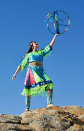 Sandra Lamouche, a contemporary Indigenous dancer and current master's student at Trent University.