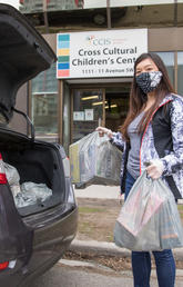 Calgarians isolated by COVID-19 are grateful for free, student-led grocery delivery service.