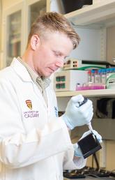 Doug Mahoney in the lab
