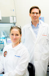 Three of the members of the C2T2 team: Drs. Jeff Biernaskie, Holly Sparks, and Vincent Gabriel