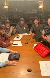 Fans who watch The Curse of Oak Island will recognize these familiar faces, from left:Craig Tester, Marty Lagina, Rick Lagina, David Blankenship, Alex Lagina, Steve Guptill and Ian Spooner.