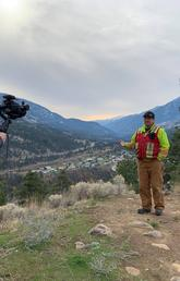 Volunteer professional videographer Ben Grayzel, alongside expert water operator Warren Brown of Lytton First Nations, shooting for the video learning library.