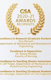 Nursing professor awarded GSA Excellence in Supervision Award