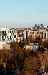 University of Calgary and the city skyline