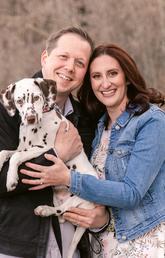 Sandy Strachan with fiance John