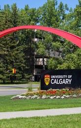 UCalgary arch and sign