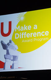 The U Make a Difference award is usually celebrated at an in-person event. This year it is virtual.