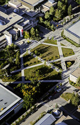 Aerial view of the UCalgary campus
