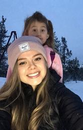 Amelia Harman and her niece Sophia