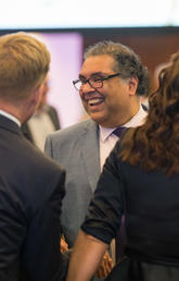Calgary Mayor Naheed Nenshi, pictured at an O'Brien Institute for Public Health event on March 6, 2020.