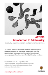 ART 271 Introduction to Printmaking