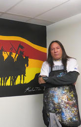 Wall art creates brave space for Indigenous nursing students