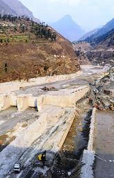 Destroyed Tapovan Vishnugad hydroelectric plant after devastating debris flow of Feb 7, 2021.