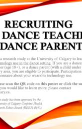 Seeking dancers, dance teachers & dance parents to participate in a research study