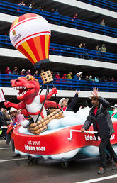 UCalgary float at the Stampede parade