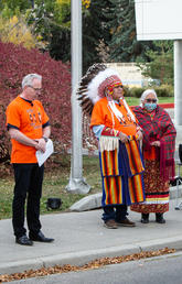 Flag lowering ceremony at UCalgary marks National Day for Truth and Reconciliation
