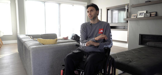 Research study leads to dramatic quality of life improvement for man with spinal cord injury
