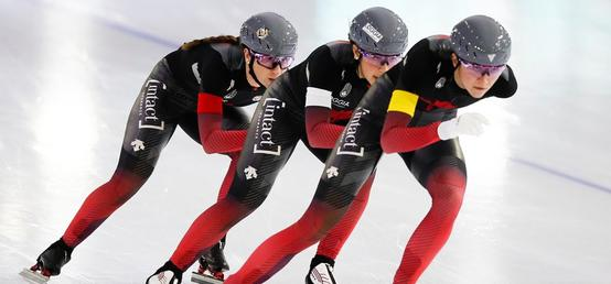 Canadian women strike gold on return to World Cup speedskating