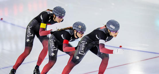 Improvisation helps UCalgary speedskaters slide into medals