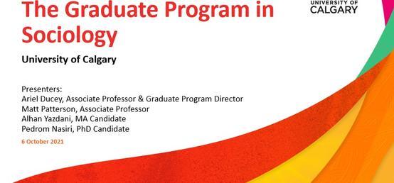 Sociology Graduate Program Information Webinar